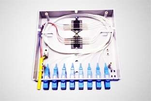 Small Compact Wall Mounted Fiber Optic Terminal Box For Local Area Netwoks
