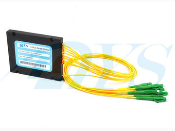1 × 8 PLC SC / APC Optical Fiber Splitter Singlemode For Data Communication