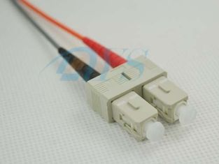 SC Multimode Duplex Optical Fiber Connectors Beige House For 3.0mm Cable Jacket
