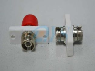 Red Flange ST Optical Fiber Adapter For CAT High Back Reflection Loss Value