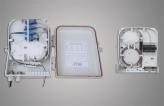 ABS , PC 16 Core Wall Mounted Fiber Optic FTTH Mini Terminal Box