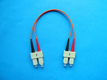 Low Back Reflection Loss Simplex / Duplex SC Optical Fiber Patch Cord For Instrument