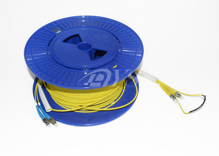 چین Yellow 50 Meter Duplex Single Mode Fiber Patch Cord with pulling eye تامین کننده