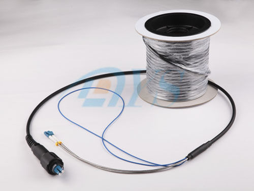 Pulling eye pre - terminated Outdoor Optical Fiber Patch Cord Low Insertion Loss تامین کننده