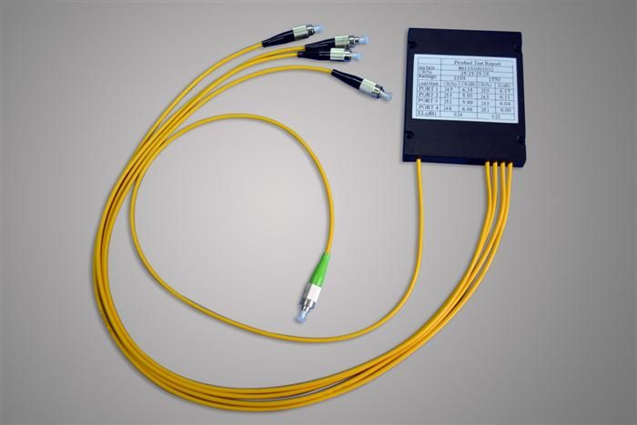 High Stability Low PDL 1490nm Audio Cable 3.0mm Insert Loss Optical Fiber Splitter تامین کننده
